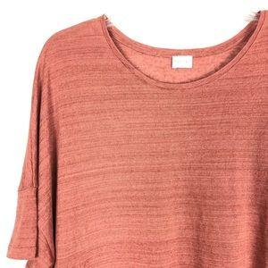 Poetry Rust Round-neck 100% Linen Jersey Top